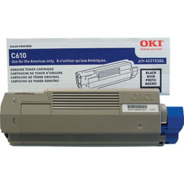 Original OKI 44315304 Laser Toner Cartridge  Black