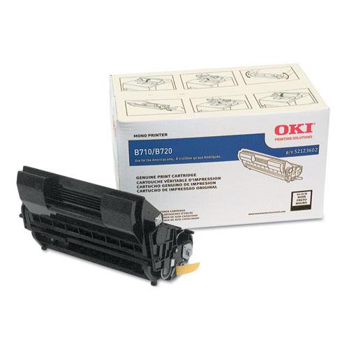 Original Oki Okidata B720dn Black High-Yield Toner Cartridge 52123602