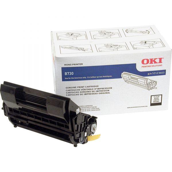 Original Oki Okidata B730dn Black Toner Cartridge 52123603