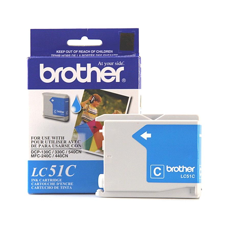 Original Brother LC-51C Cyan Ink Cartridge