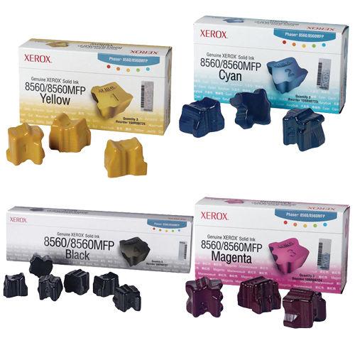 Phaser 8560/8560MFP   108R00723 108R00724 108R00725 108R00727   Original Xerox Ink Cartridge Set – Black, Color