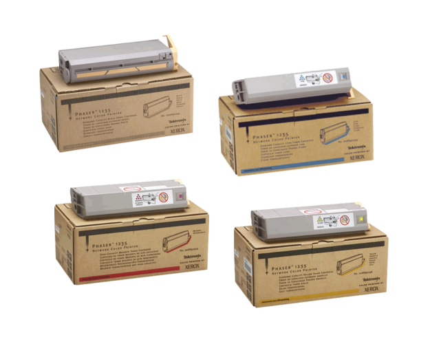 Phaser 1235   006R90293 006R90294 006R90295 006R90296   Original Xerox Toner Cartridge Set – Black, Color