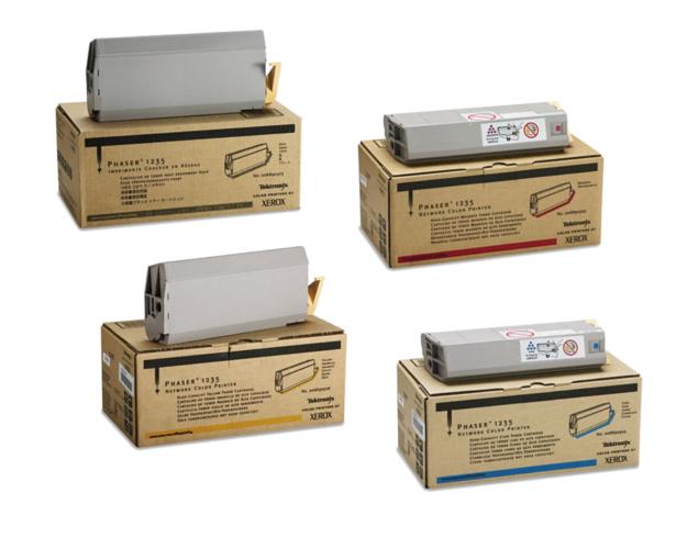 Phaser 1235HC | 006R90303 006R90304 006R90305 006R90306 | Original Xerox High-Yield Toner Cartridge Set – Black, Color