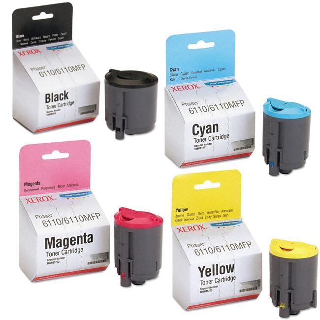 Phaser 6110 | 106R01271 106R01272 106R01273 106R01274 | Original Xerox Toner Cartridge Set – Black, Color