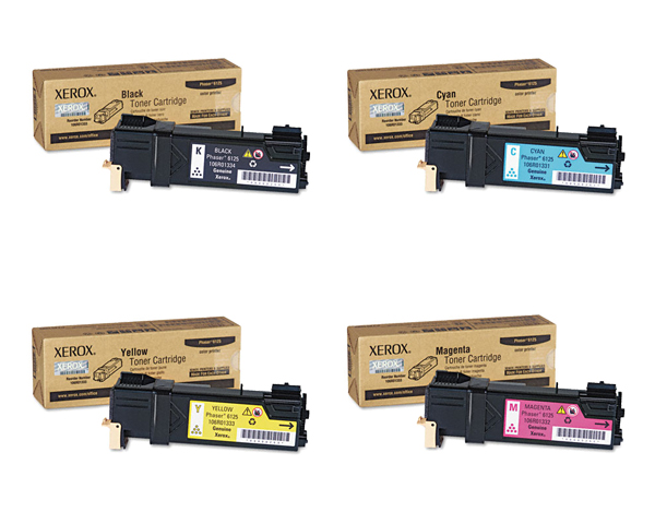Phaser 6125N | 106R01331 106R01332 106R01333 106R01334 | Original Xerox Toner Cartridge Set – Black, Color
