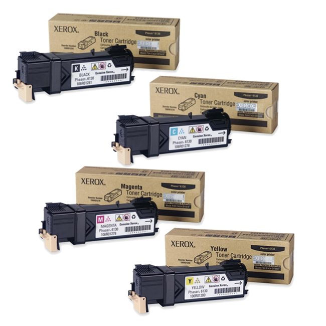Phaser 6130   106R01278 106R01279 106R01280 106R01281   Original Xerox Toner Cartridge Set – Black, Color