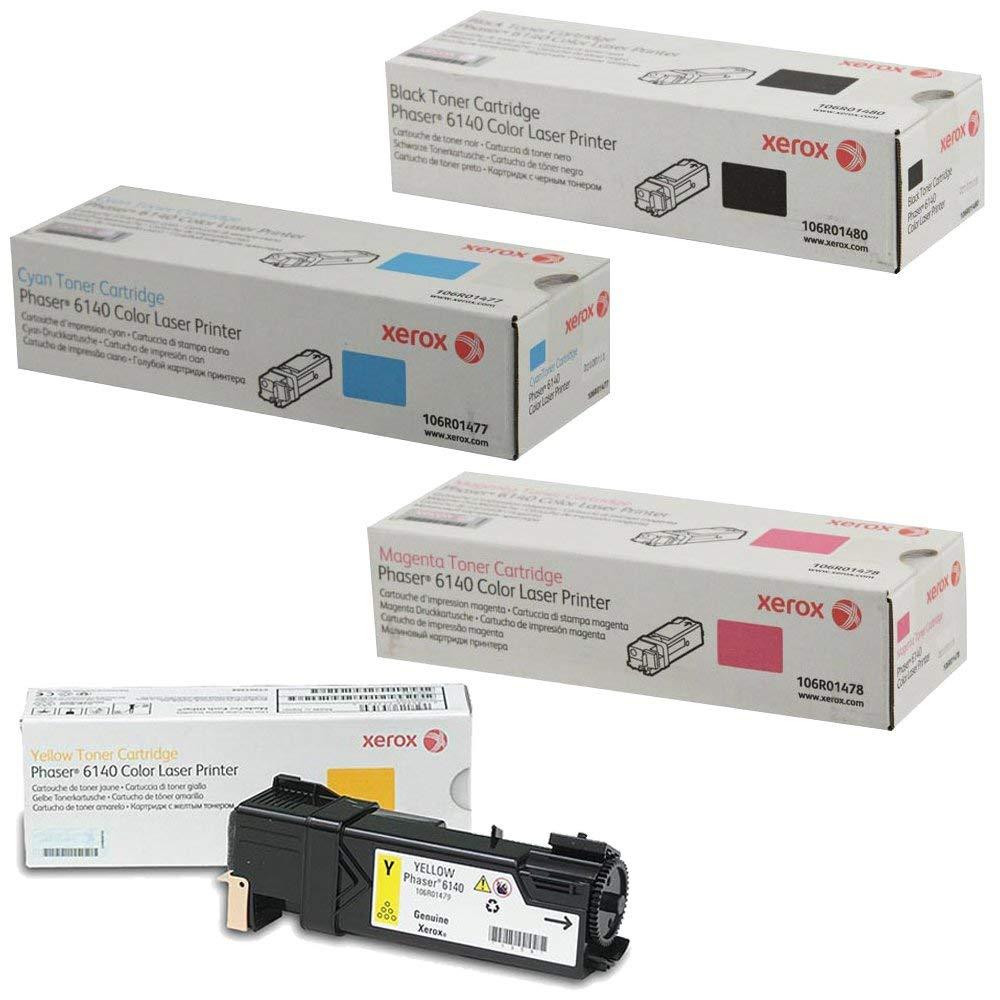 Phaser 6140 | 106R01477 106R01478 106R01479 106R01480 | Original Xerox Toner Cartridge Set – Black, Color