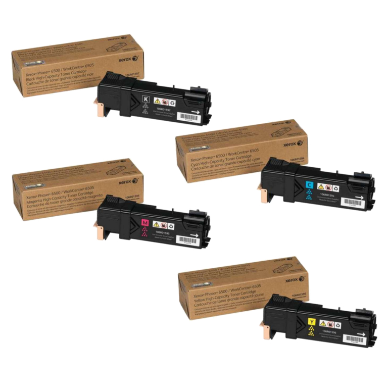 Phaser 6500HC | 106R01594 106R01595 106R01596 106R01597 | Original Xerox High-Yield Toner Cartridge Set – Black, Color