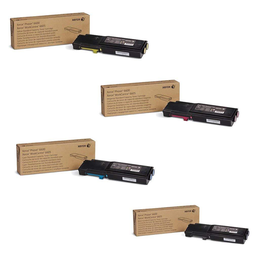 Phaser 6600 - 6605   106R02241 106R02242 106R02243 106R02244   Original Xerox Toner Cartridge Set – Black, Color