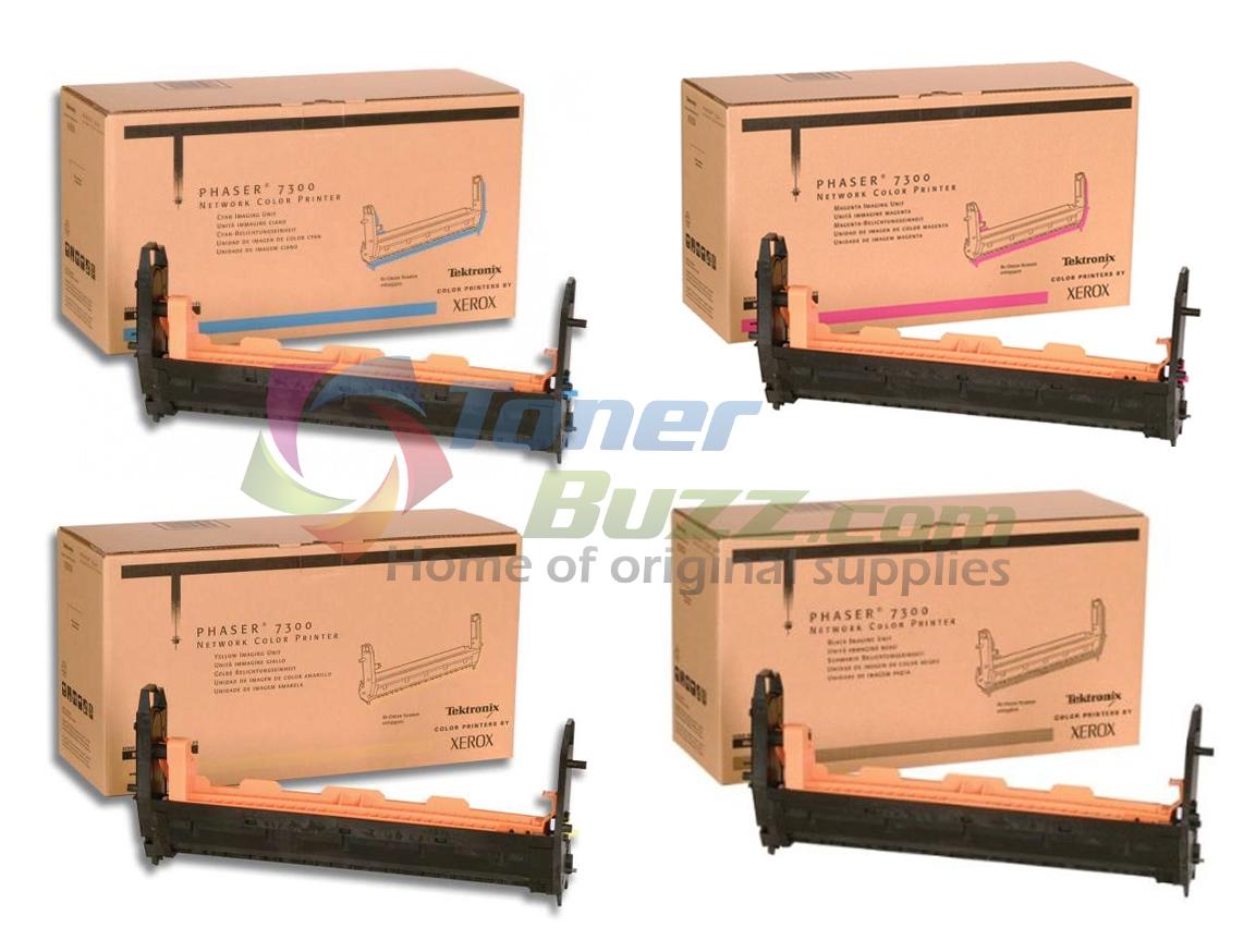 Original Xerox Phaser 7300 Black Cyan Magenta Yellow Drum Cartridge 4-Pack 016-1993-00 016-1994-00 016-1995-00 016-1996-00