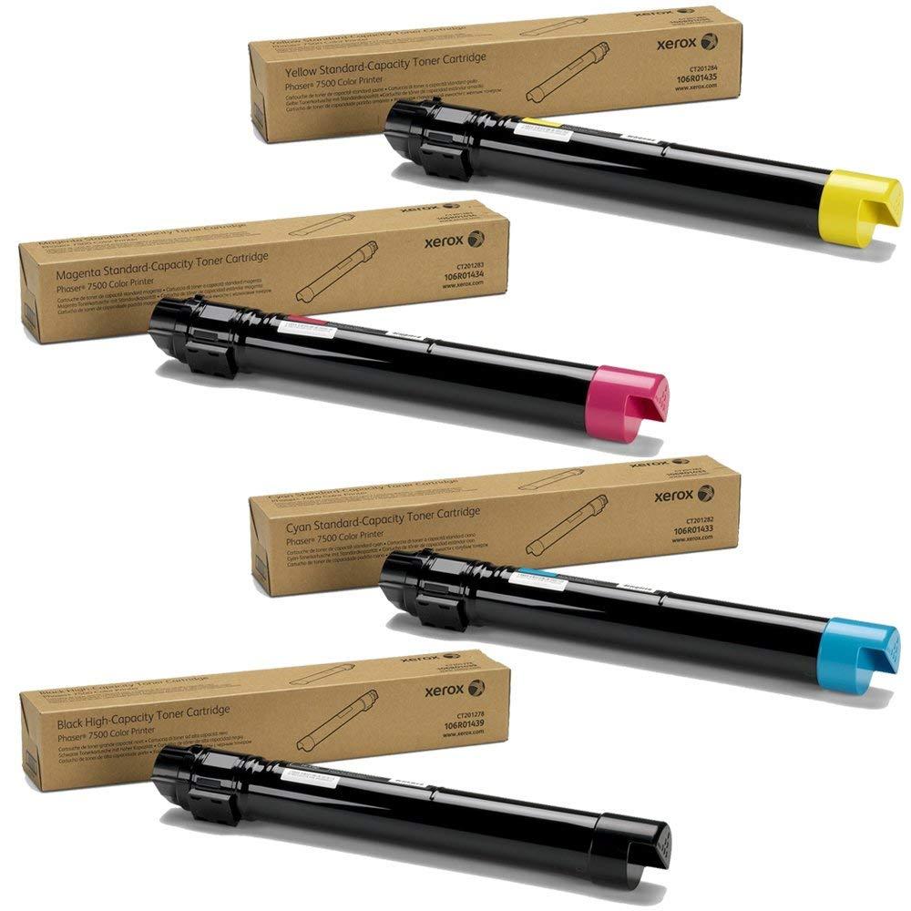 Phaser 7500 | 106R01433 106R01434 106R01435 106R01439 | Original Xerox Toner Cartridge Set – Black, Color