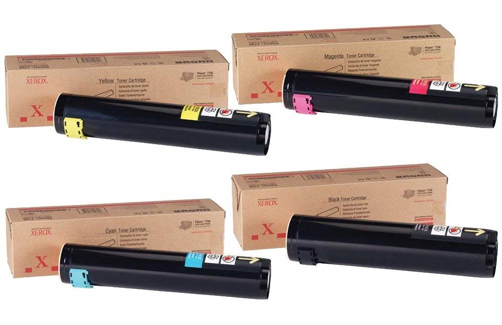 Phaser 7750 | 106R00652 106R00653 106R00654 106R00655 | Original Xerox Toner Cartridge Set – Black, Color