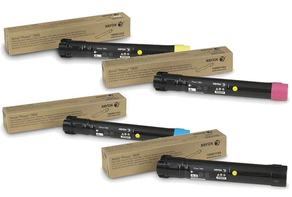 Phaser 7800 | 106R01563 106R01564 106R01565 106R01569 | Original Xerox Toner Cartridge Set – Black, Color