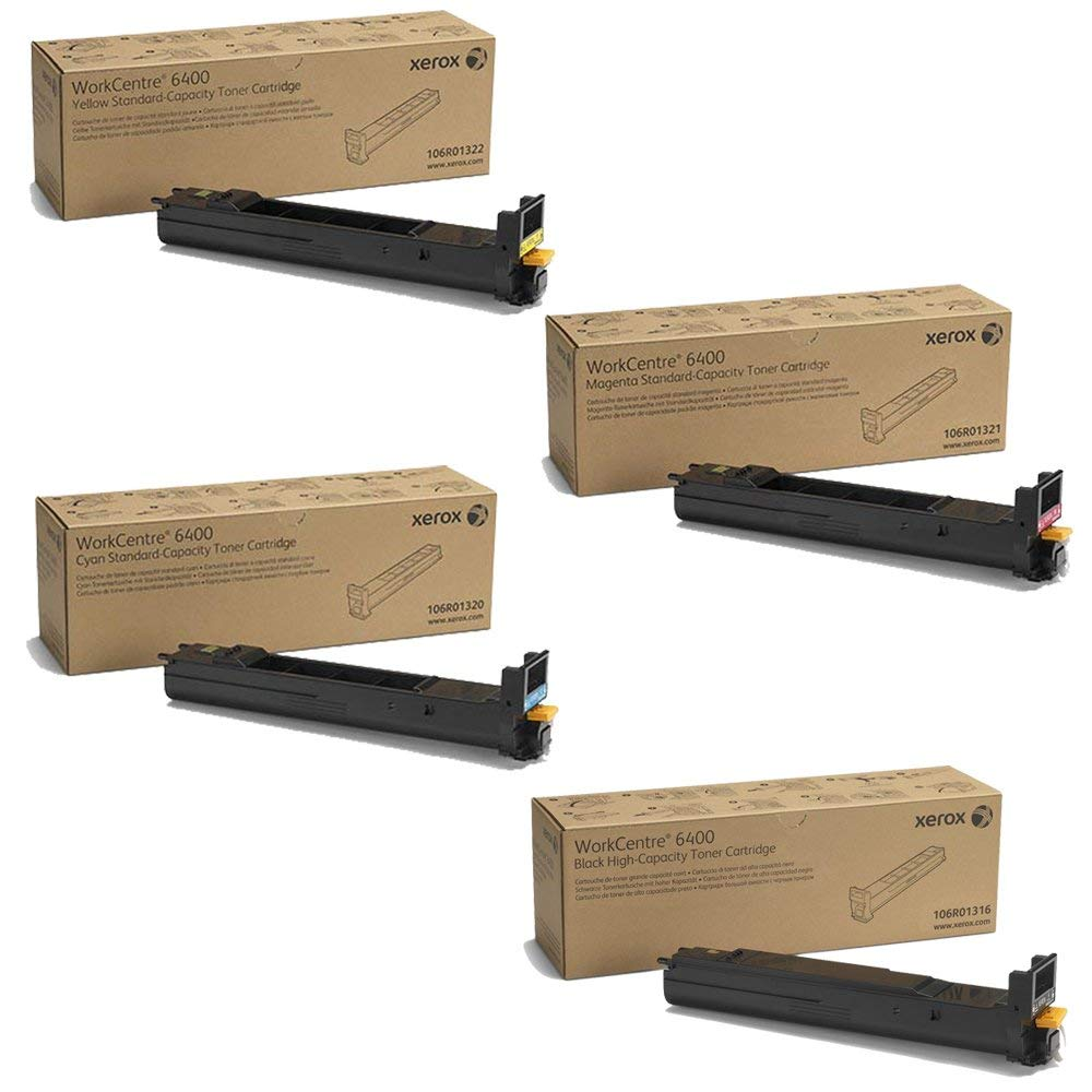 WorkCentre 6400   106R01316 106R01320 106R01321 106R01322   Original Xerox Toner Cartridge Set – Black, Color