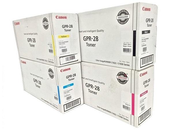 Canon GPR-28 CYMK Set   657B004AA 1658B004AA 1659B004AA 1660B004AA   Original Canon Laser Toner Cartridge Set - Black, Cyan, Magenta, Yellow