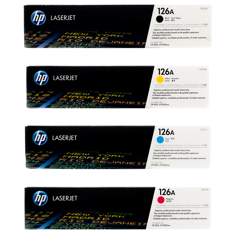 HP 126A SET   CE310A CE311A CE312A CE313A   Original HP Toner Cartridge - Black, Cyan, Yellow, Magenta