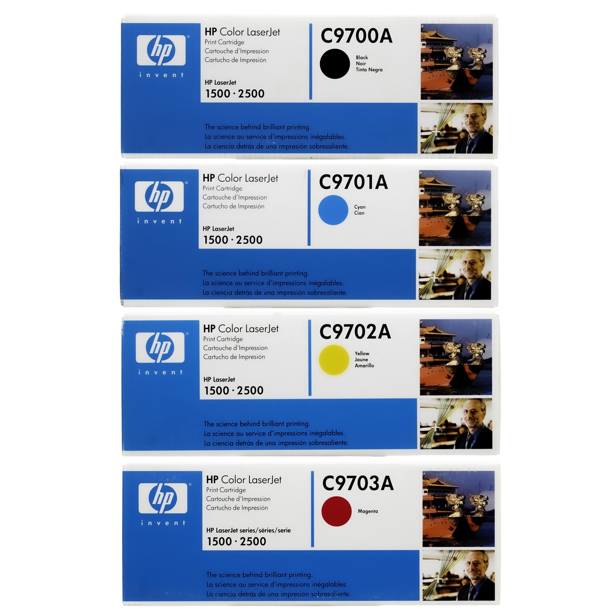 HP 121A SET | C9700A C9701A C9702A C9703A | Original Toner Cartridge - Black, Cyan, Yellow, Magenta