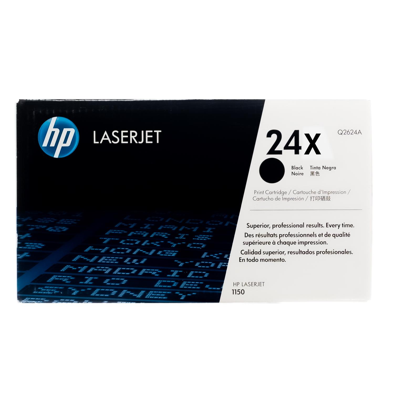 Original HP 24X Q2624X Black LaserJet Toner Cartridge