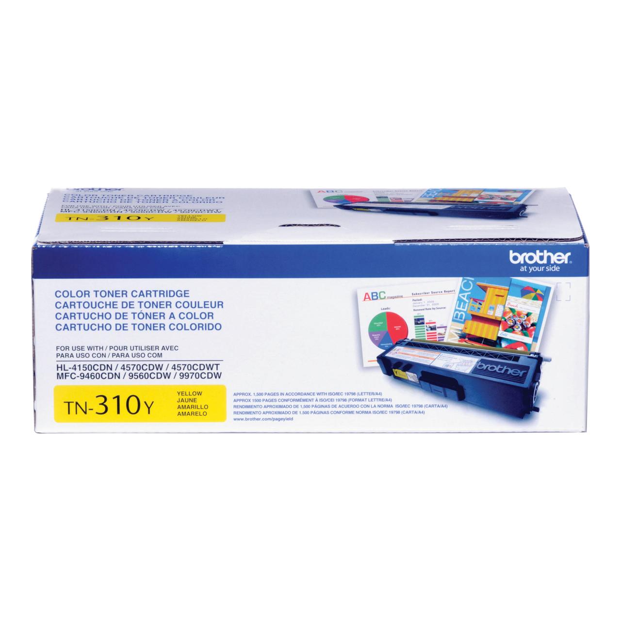 Original Brother TN-310Y Yellow Laser Toner Cartridge