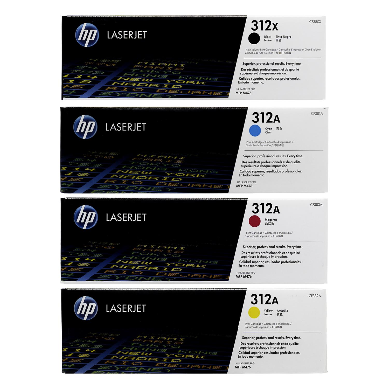 HP 312X 312A SET | CF380X CF381A CF382A CF383A | Original HP Toner Cartridge - Black, Cyan, Yellow, Magenta
