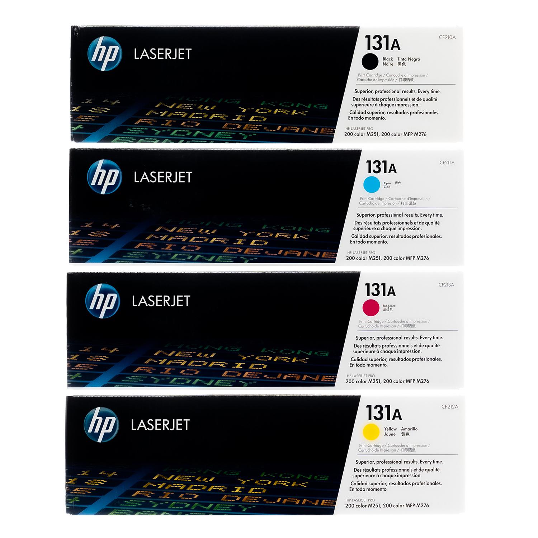 HP 131A SET   CF210A CF211A CF212A CF213A   Original HP Toner Cartridge - Black, Cyan, Yellow, Magenta