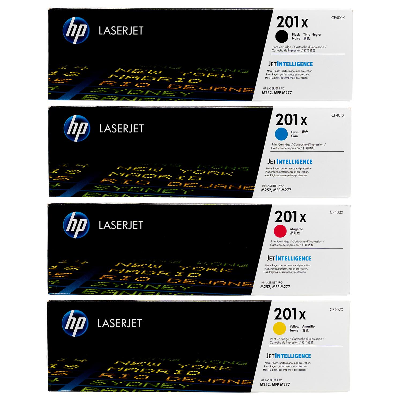 HP 201X SET | CF400X CF401X CF402X CF403X | Original HP Toner Cartridge - Black, Cyan, Yellow, Magenta