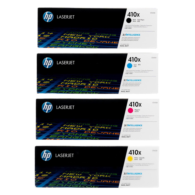 HP 410X SET   CF410X CF411X CF412X CF413X   Original HP Toner Cartridge - Black, Cyan, Yellow, Magenta