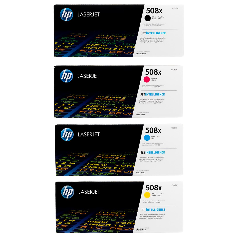 HP 508X SET | CF360X CF361X CF362X CF363X | Original HP Toner Cartridge - Black, Cyan, Yellow, Magenta