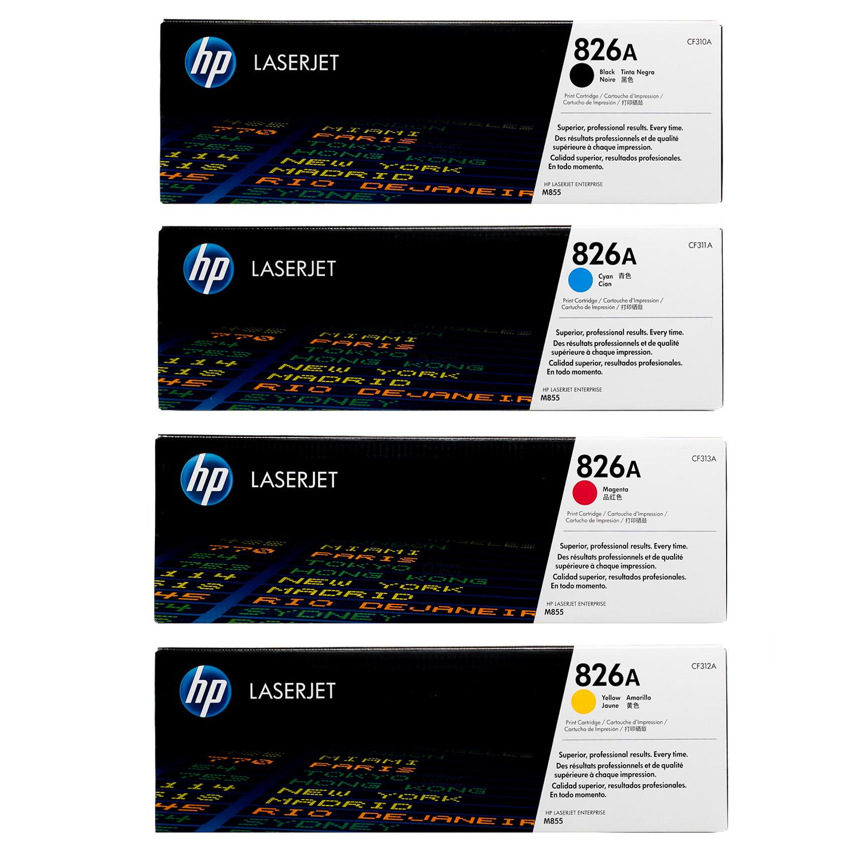HP 826A SET | CF310A CF311A CF312A CF313A | Original HP Toner Cartridge - Black, Cyan, Yellow, Magenta