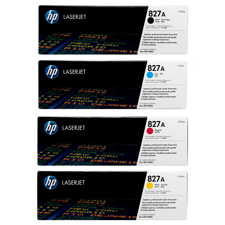 HP 827A SET | CF300A CF301A CF302A CF303A | Original HP Toner Cartridge - Black, Cyan, Yellow, Magenta