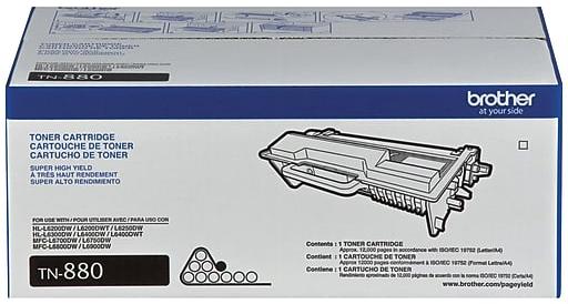 Original Brother TN880 Black Super High-Yield Laser Toner Cartridge