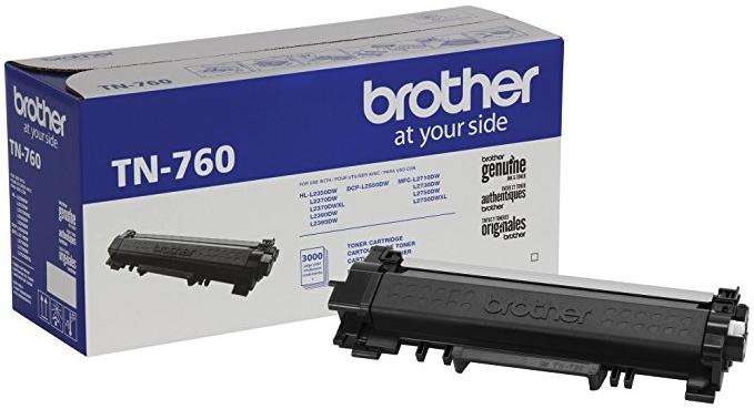 Original Brother TN760 High-Yield Black Toner Cartridge