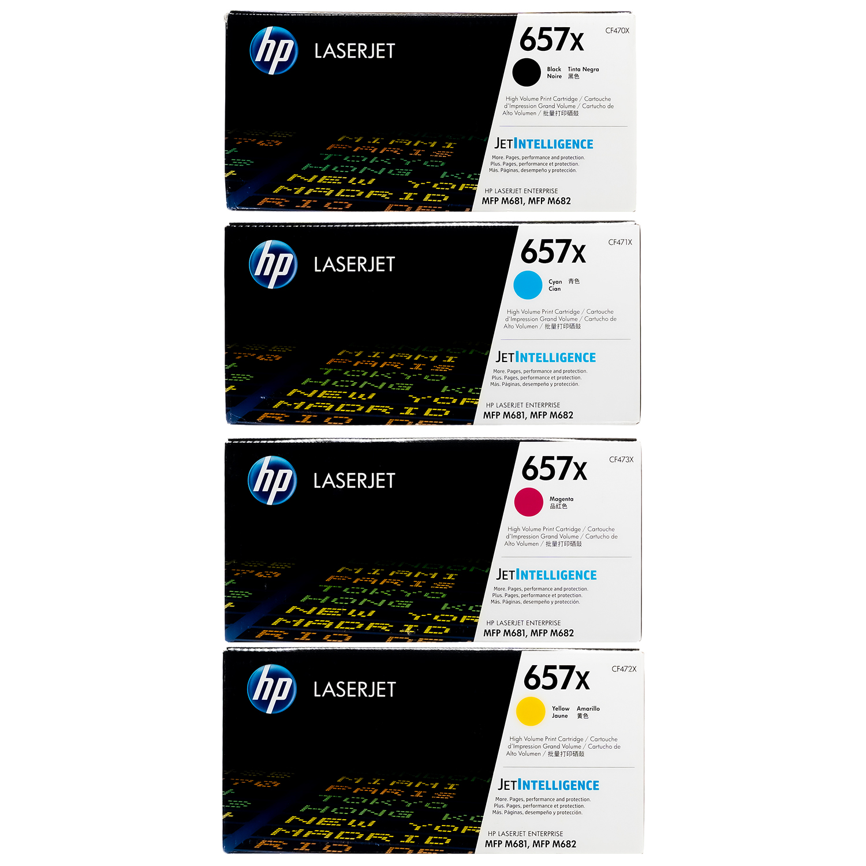 HP 657X SET | CF470X CF471X CF472X CF473X | Original HP Toner Cartridge - Black, Cyan, Yellow, Magenta