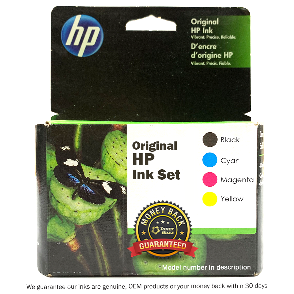 HP 972A SET | F6T80AN L0R86AN L0R89AN L0R92AN | Original HP PageWide Ink Cartridges - Black, Cyan, Magenta, Yellow