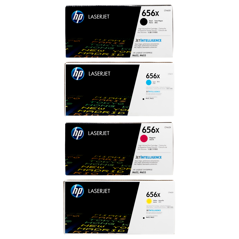 HP 656X SET   CF460X CF461X CF462X CF463X   Original HP Toner Cartridge - Black, Cyan, Yellow, Magenta