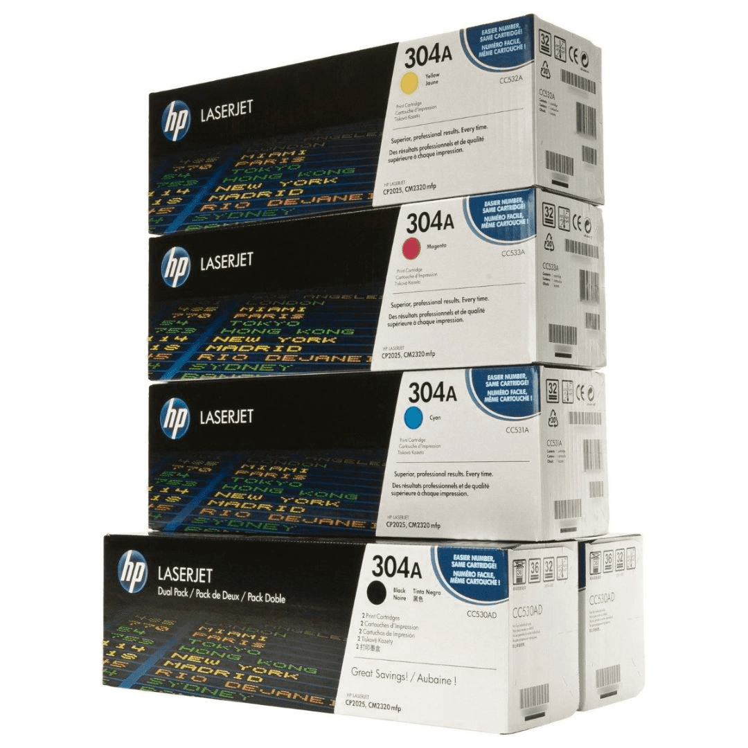 HP CC530AD CF340A SET | Original HP Toner Cartridge - Black, Cyan, Yellow, Magenta