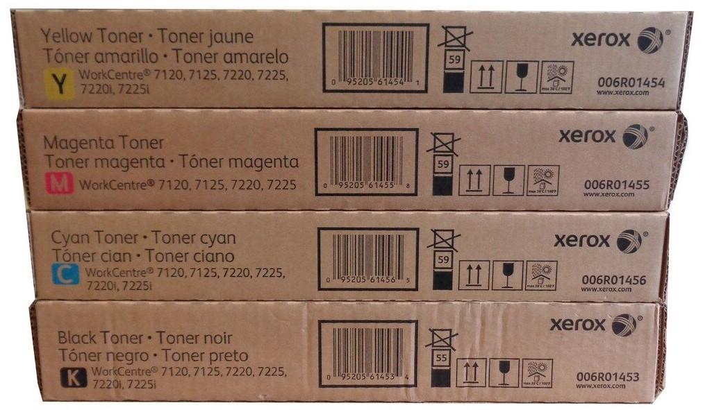 Xerox 7120 SET | 006R01453 006R01454 006R01455 006R01456 | Original Xerox Toner Cartridges  – Black, Color