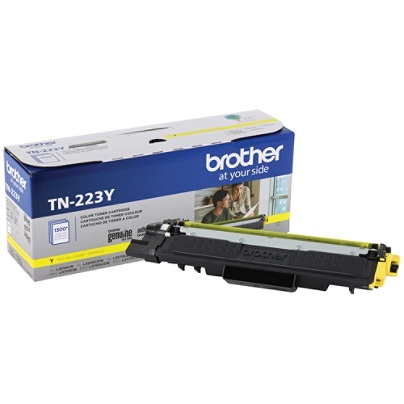 Original Brother TN223Y TN-223Y OEM Toner Yellow 1300 Pages Standard Yield