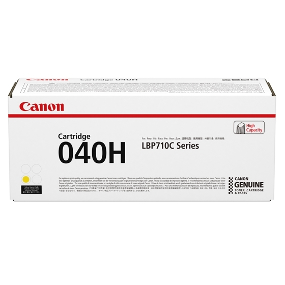 0455C001   Canon 040H   Original Canon High-Yield Laser Toner Cartridge - Yellow