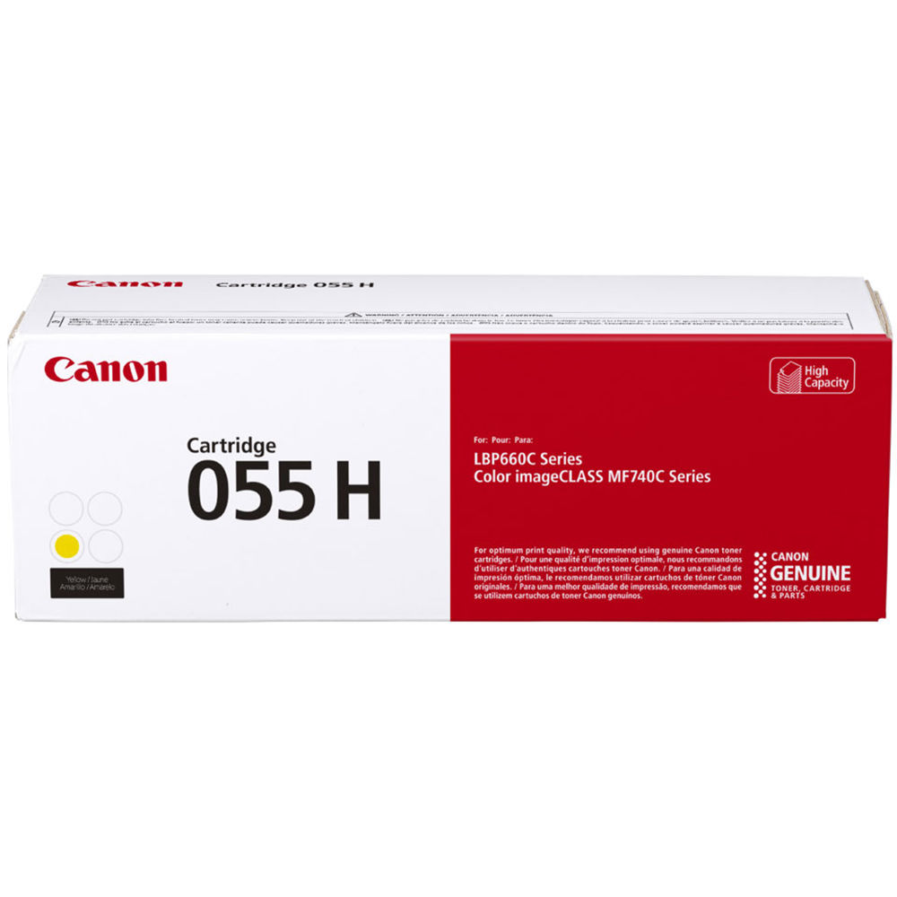 3017C001 | Canon 055H | Original Canon High-Yield Toner Cartridge - Yellow
