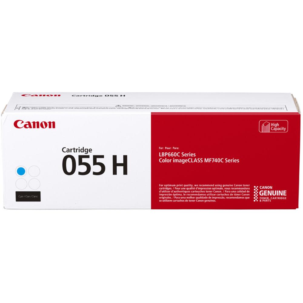 3019C001   Canon 055H   Original Canon High-Yield Toner Cartridge - Cyan