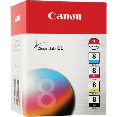 0620B010 | Canon CLI-8 | Original Canon Ink Cartridge Set - Black, Cyan, Magenta, Yellow