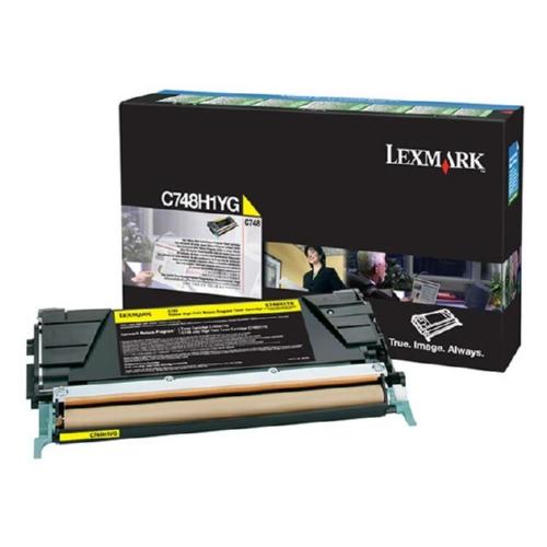 C748H1YG   Original Lexmark High-Yield Toner Cartridge – Yellow