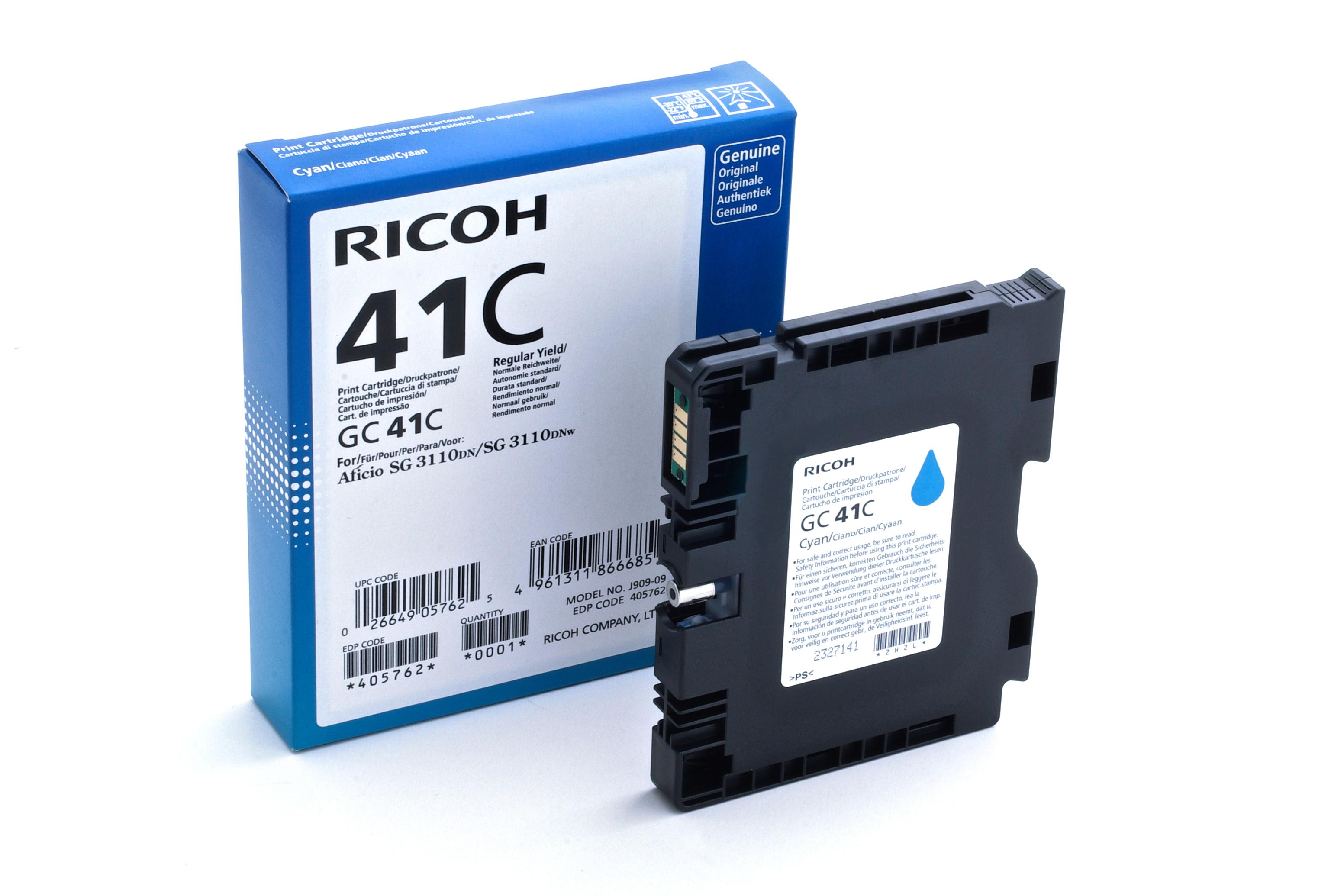 405762 | Original Ricoh ink Cartridge - Cyan