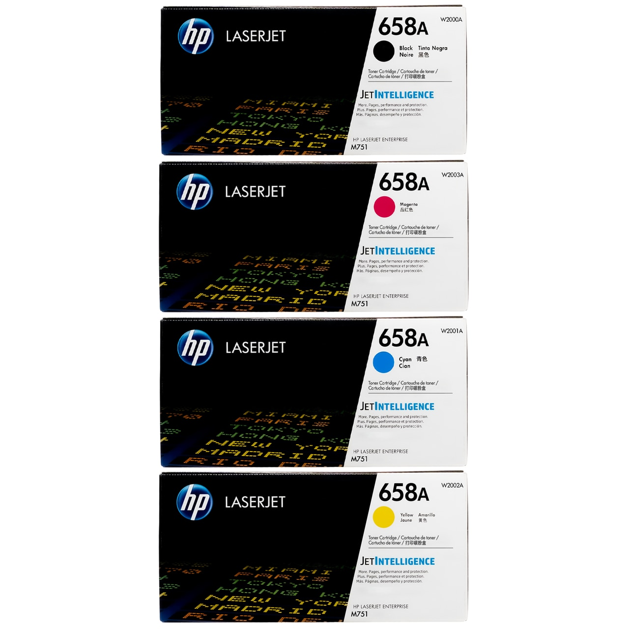 Original HP 658A SET | W2000A W2001A W2002A W2003A | LaserJet Toner Cartridges - Black, Cyan, Magenta, Yellow