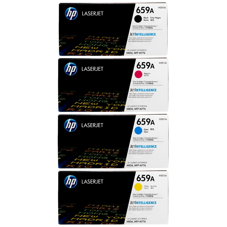 Original HP 659A SET   W2010A W2011A W2012A W2013A   LaserJet Toner Cartridges - Black, Cyan, Magenta, Yellow