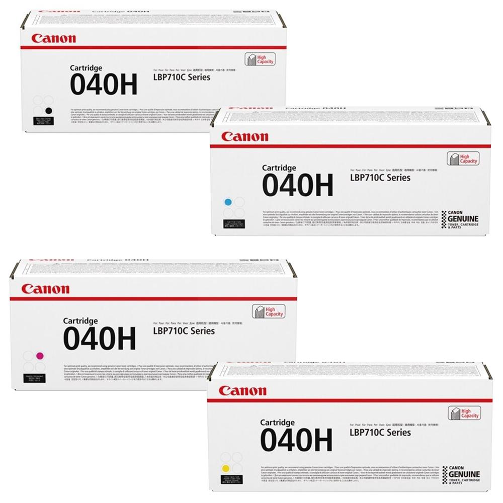 Canon 040H Set | Original Canon Laser Toner Cartridges – Black, Cyan, Magenta, Yellow