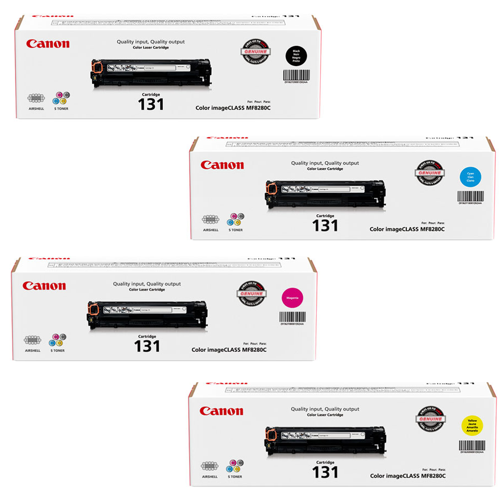 Canon 131 Set | Original Canon Laser Toner Cartridges – Black, Cyan, Magenta, Yellow