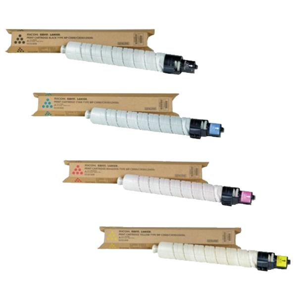 Ricoh MP-C3000 Set | 884962 884963 884964 884965 | Original Ricoh Laser Toner Cartridges – Black, Cyan, Magenta, Yellow