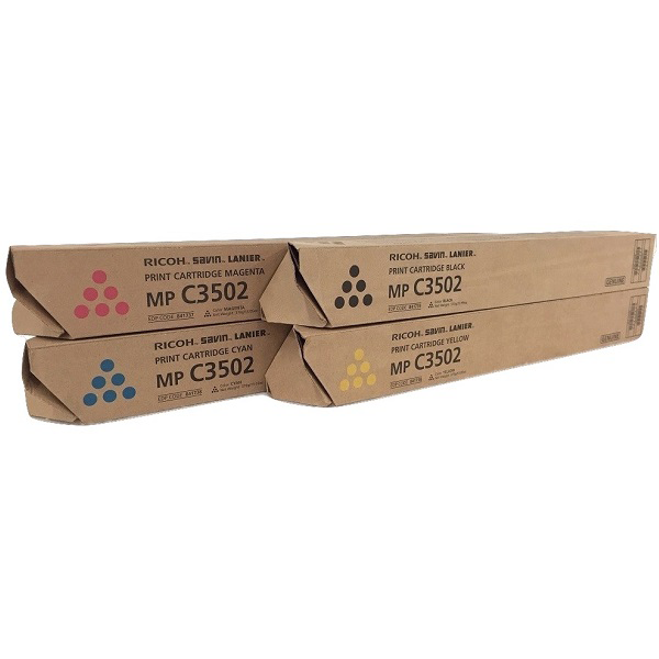 Ricoh MP-C3502 Set | 841735 841736 841737 841738 | Original Ricoh Laser Toner Cartridges – Black, Cyan, Magenta, Yellow